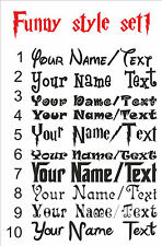 Personalizado Personalizar Tu nombre texto divertido estilo Autoadhesiva De Vinilo El Arte De Pared Fs1