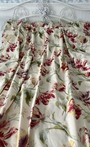Laura Ashley Gosford Cranberry Curtains 66'' Wide 72'' Drop Country Cottage Core