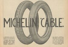 Z1786 Pneumatici MICHELIN Cable - Pubblicità d'epoca - 1923 Old advertising