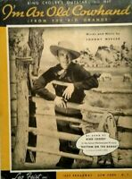 1936 Bing Crosby I'm An Old Cowhand Singing Cowboy Western Vintage Sheet Music