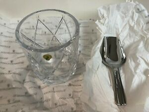 Waterford OLANN Crystal Ice Bucket & Scoop - Wedding or Anniversary Gift - NIB