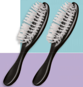 """2- PACK))) AVON HAIR BRUSH  BLACK COLOR 8"""" NEW IN PLASTIC BAG - FROM MEXICO"""