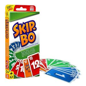 Kartenspiel Familienspiel Skip-Bo-Skipbo Patience Skippo-4-6 Personen Spiele DE