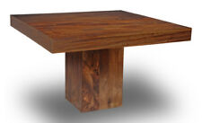 Dark Dakota Mango Cube Dining Table 120cm Square (32n)