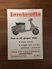 DEPLIANT VINTAGE,1968,LAMBRETTA INNOCENTI,LAMBRO SCOOTER MOTO VESPA APE CAR