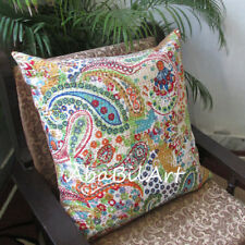 "Large 24X24"" Indian Pillow Cushion Cover Bohemian Floral Kantha Stitch Case Arts"