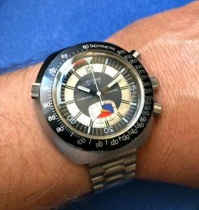 SICURA WATCH - CHONOGRAPHE 17 JEWELS FANTASTIC CONDITION - VERY RARE !!