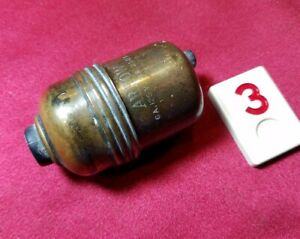 Vtg Arrow Electric Brass Bakelite Electric Push Button Switch In Line - R3E