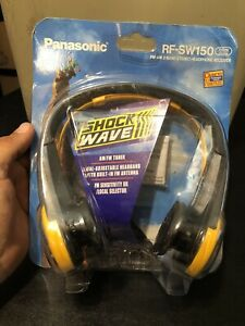 New Vintage Rare Panasonic RF-SW150 Shock Wave AM FM Stereo Headphones Radio