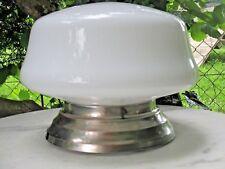 ancien plafonnier en opaline - lustre hall d'entré art déco lampes
