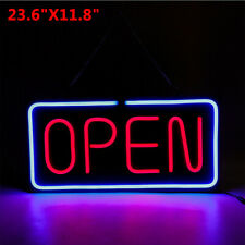 "Large Open Neon Sign Led Light Tube For Business Store Bar Shop Decor 24""x12"" Us"
