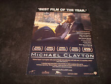 MICHAEL CLAYTON Oscar ad with George Clooney for Best Actor, Tilda Swinton