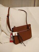 Vince Camuto  handbag leather Dark Rum Mani Crossbody Purse Bag NWT MSRP: $148