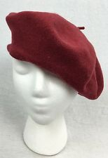 "Parkhurst Beret 100% Wool Red 10.25"" Diameter Canada Made Hat"
