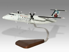 Bombardier Dash 8-300 Air Canada Express Handcrafted Solid Wood Display Model