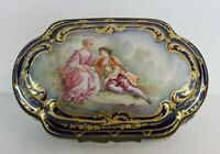 Antique Porcelain Sevres France Huge Jewelry Box 19th C.