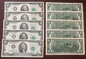 USA 2 Dollar 1976 Schein 2 US $ Banknote mit leichten Umlaufspuren