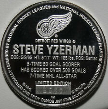 Detroit Red Wings Silver Round, Steve Yzerman, 1 oz, .999 Silver Round, #9447