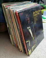 Lot of 36 uncommon Vinyl LP records for listening, crafts, art or decoration