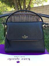 KATE SPADE Miri Chester street Black Satchel Handbag Crossbody Bag Leather $328
