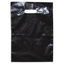 500 Bulk White Plastic Carry Bag 380 x 260mm + 60mm B/G retail bag show bag