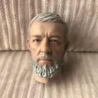 "1/6 Scale Resin Obi-Wan Kenobi Head Sculpt For 12"" Hot Toys Star Wars Body DX07"