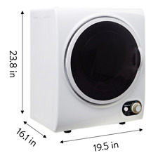 Electric Tumble Compact Laundry Clothes Dryer 1.5 cu ft White