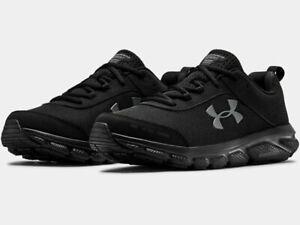 2021 Under Armour Mens UA Charged Assert 8 Running Shoes Cross Training Blackout