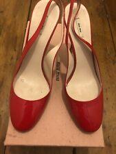 Miu Miu Red Slingbacks Size 37.5