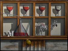 "James Carter ""Simple Magic"" Signed & Numbered Serigraph surreal still life zebra"
