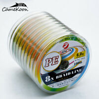 CAMEKOON Multifilament Fishing Line 8 Strands Strong PE Braided Sea Fishing Line