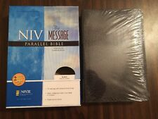 NIV 1984 / The Message Parallel Bible - Black Bonded Leather - OOP 84 - Sealed