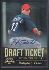 KYLIN TURNBULL 2011 PANINI CONTENDERS DRAFT TICKET AUTOGRAPH NATIONALS SP