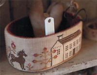 Primrose Farm Sewing Basket Pinkeep Stacy Nash Primitives Cross Stitch Pattern