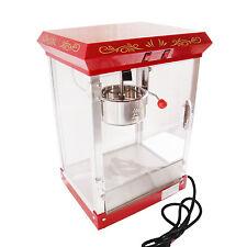 4 oz Popcorn Popper Maker Machine Electric Retro Cinema Style Movie Party Red