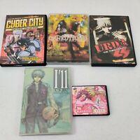 5 Anime DVD Mixed Lot  Cyber City, Gankutsuou,Urda, I'll /CKBX, KALEIDO STAR