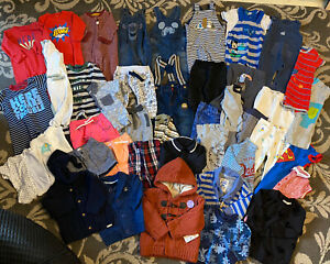 Baby Boys Clothes Bundle Age 3-6 Months T-shirts Trousers Dungarees 44 items