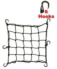 Large Motorcycle Cargo Hold Down Holding Net Strap Set ATV Bungee Bungie Cord