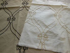 C1 duo petits coupons de tissu rebrodé patchwork creation