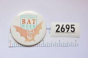 WYCOMBE BAT WEEK Vintage badge circa 1980s 1990s