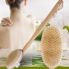 Scrubber Long Back Health 1 Pcs Bristle Body Brush Bath Natural Shower Brushes