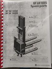 Ersatzteilbuch BT Elektro Deichselstapler BT SV 1000 ST1000