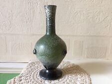 Art Glass Vase Roman Vessel Style Frosted Glass
