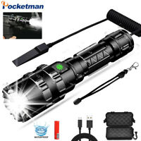 60000LM L2 LED Flashlight Rechargeable 5Modes Hunting Tactical Torch Light 18650