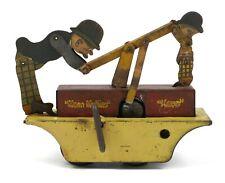 Vintage Louis Marx Moon Mullins and Kayo Windup Train Hand Car Toy