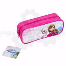 Disney Frozen Elsa and Anna Pencil Case with Zipper Pencil Bag Pouch - Hot Pink