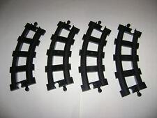 Lot of 4 Lego Duplo BLACK Curve Train Tracks Pcs Can Use W Thomas VERY RARE