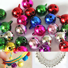 100 Small Christmas Jingle Bells Mix Colour Plated 10/12/14 mm Jewellery Charm