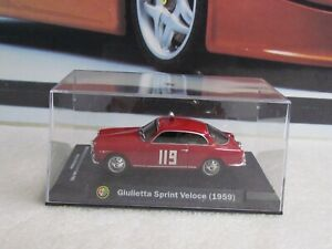 IXO  MODELS - 1959 ALFA ROMEO GIULIA SPRINT VELOCE - 1/43 SCALE MODEL RALLY CAR