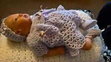 Reborn Doll Newborn 0-3 Baby Crochet Dress, Shrug, Pants, Shoes Set CUSTOM